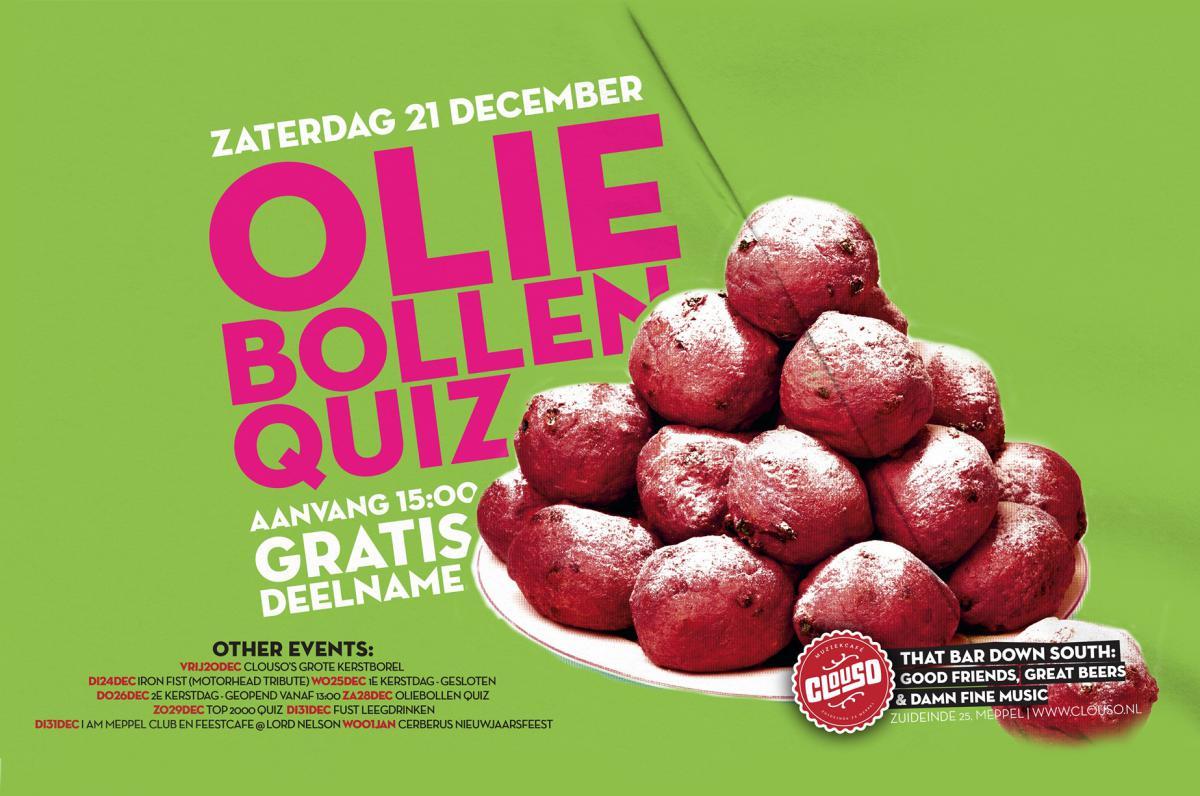 Oliebollenquiz - evenement   Ontdek Meppel   Weet wat er speelt.