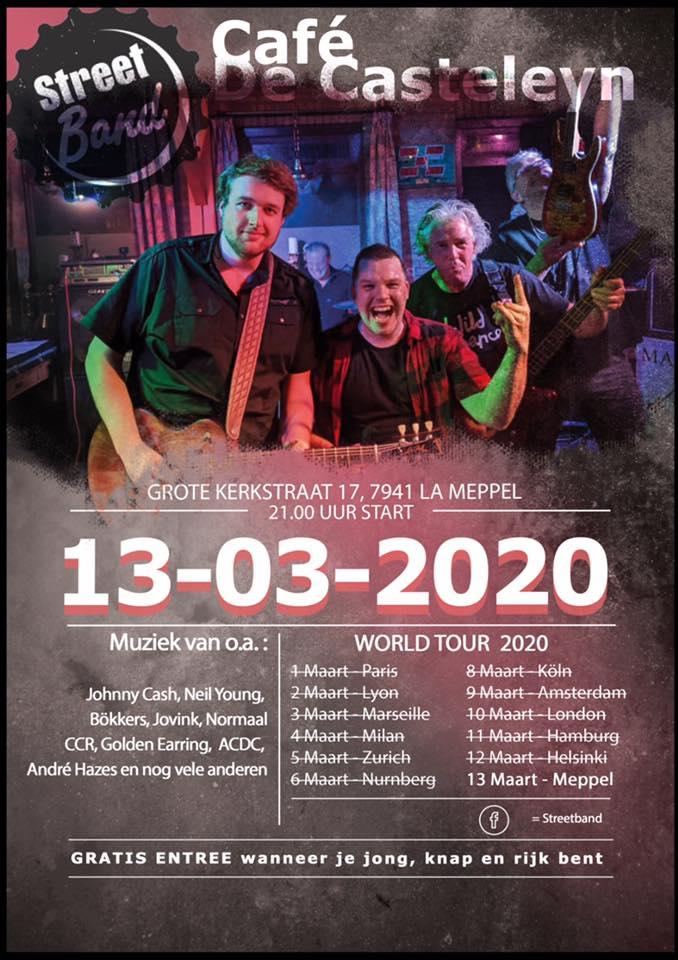 AFGELAST! Streetband - concerten   Ontdek Meppel   Weet wat er speelt.
