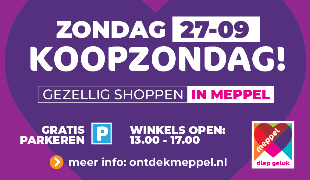 Koopzondag - shopping   Ontdek Meppel   Weet wat er speelt.